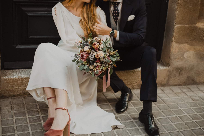 City wedding bouquet