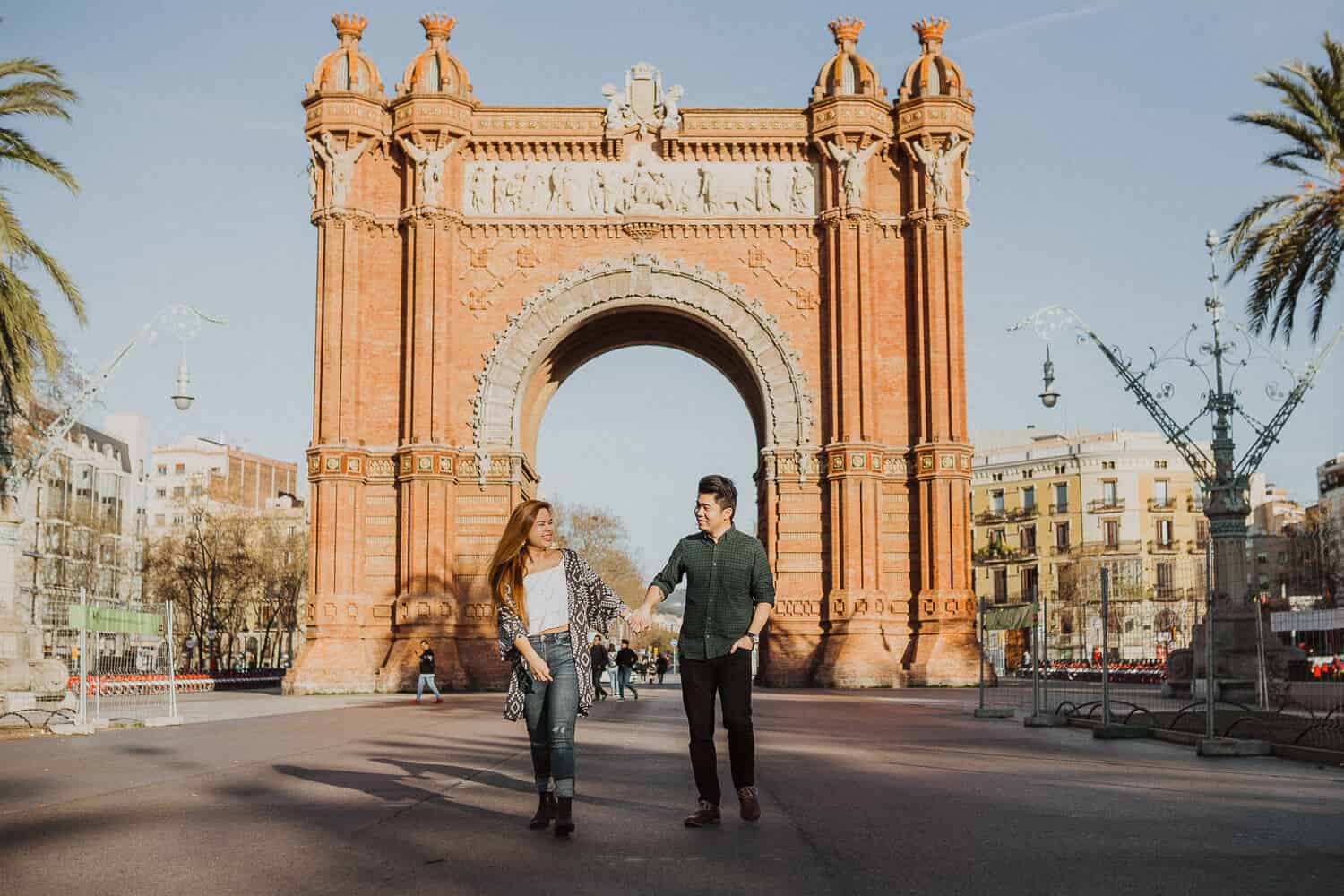 Barcelona photo shoot in Arc de Triomf