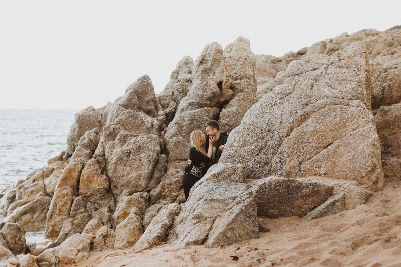 Couples photo shoot in Barcelona's beach