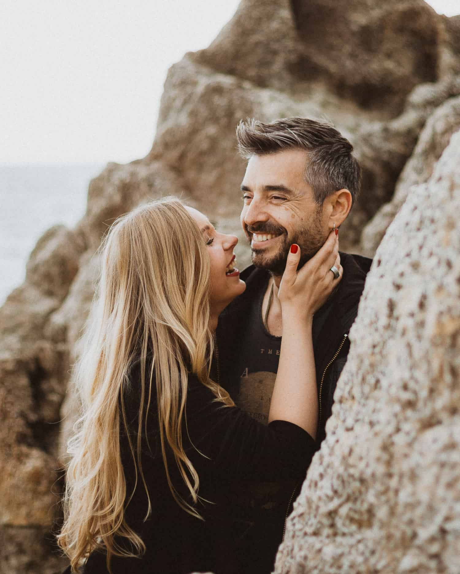 Engagement photo shoot in the beach, Spain