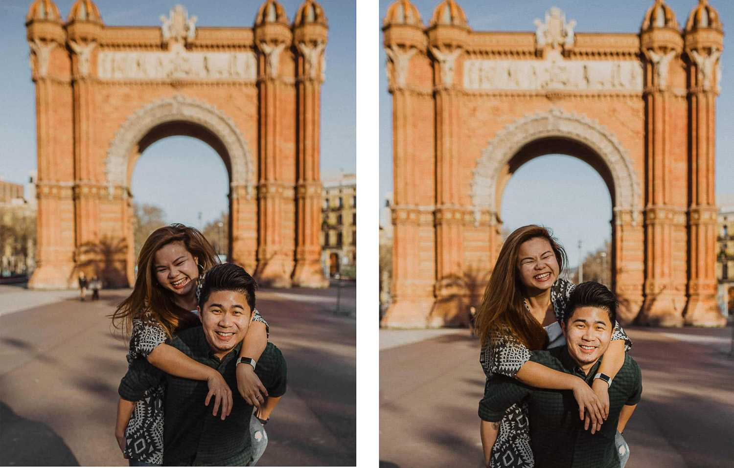 Couples photo shoot in Barcelona city
