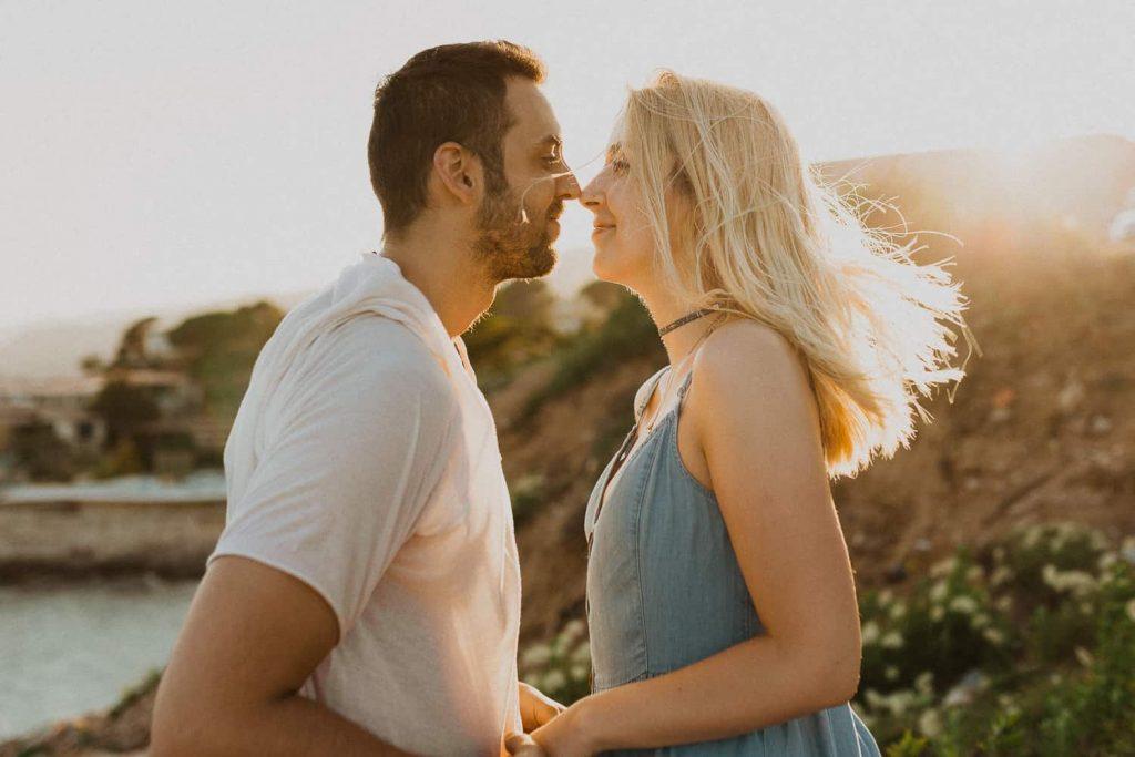 Couples photo session in Costa Brava beach