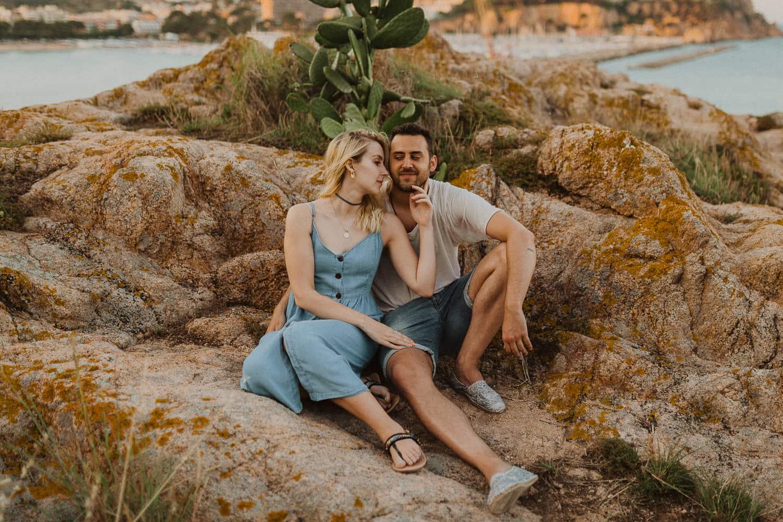 Engagement photos in Costa Brava