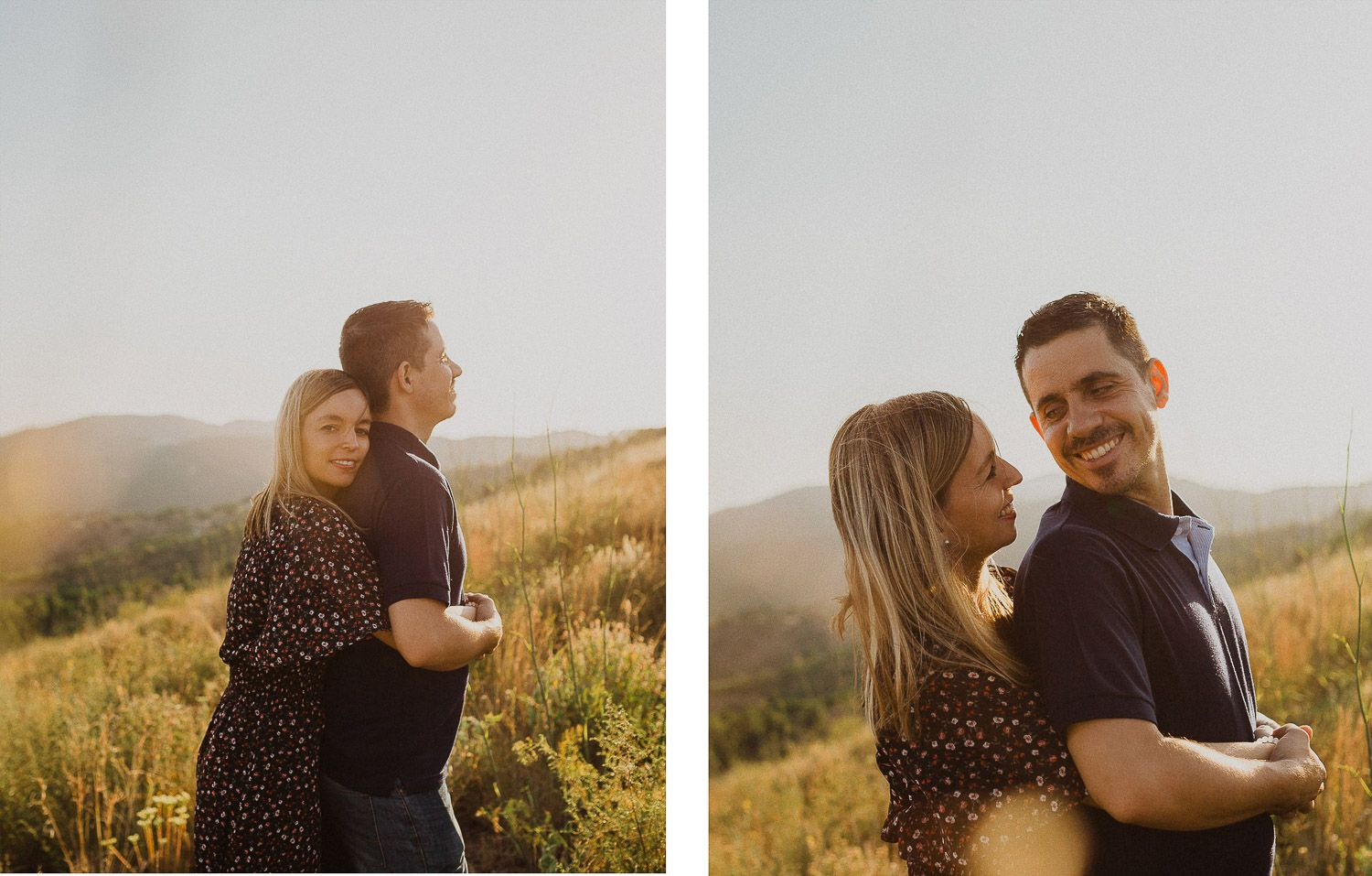 Engagement photos in Alella viewpoint