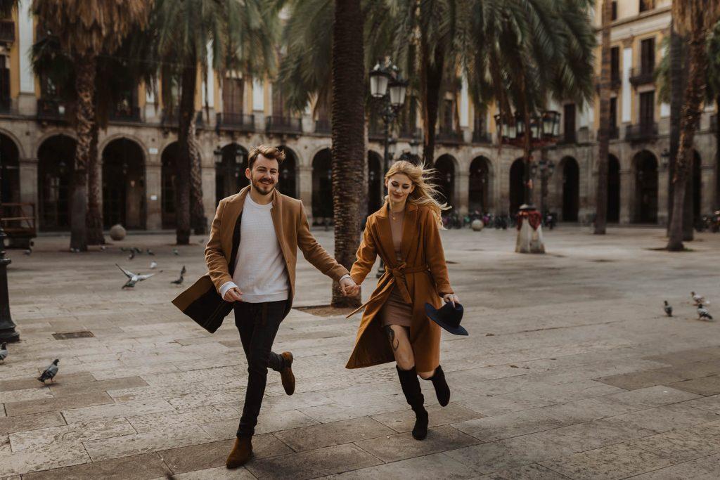 Barcelona couples engagement