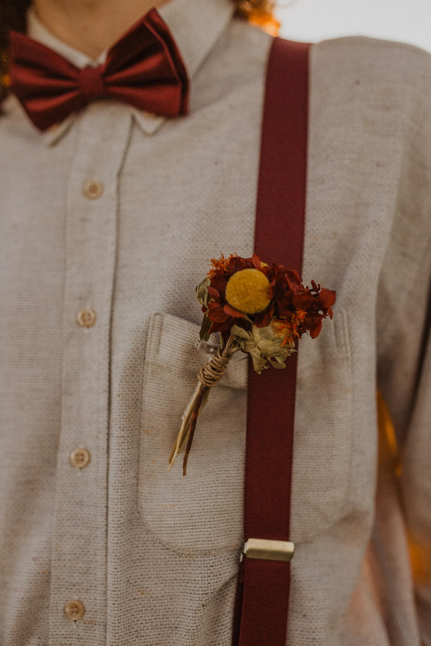 Groom flower pin
