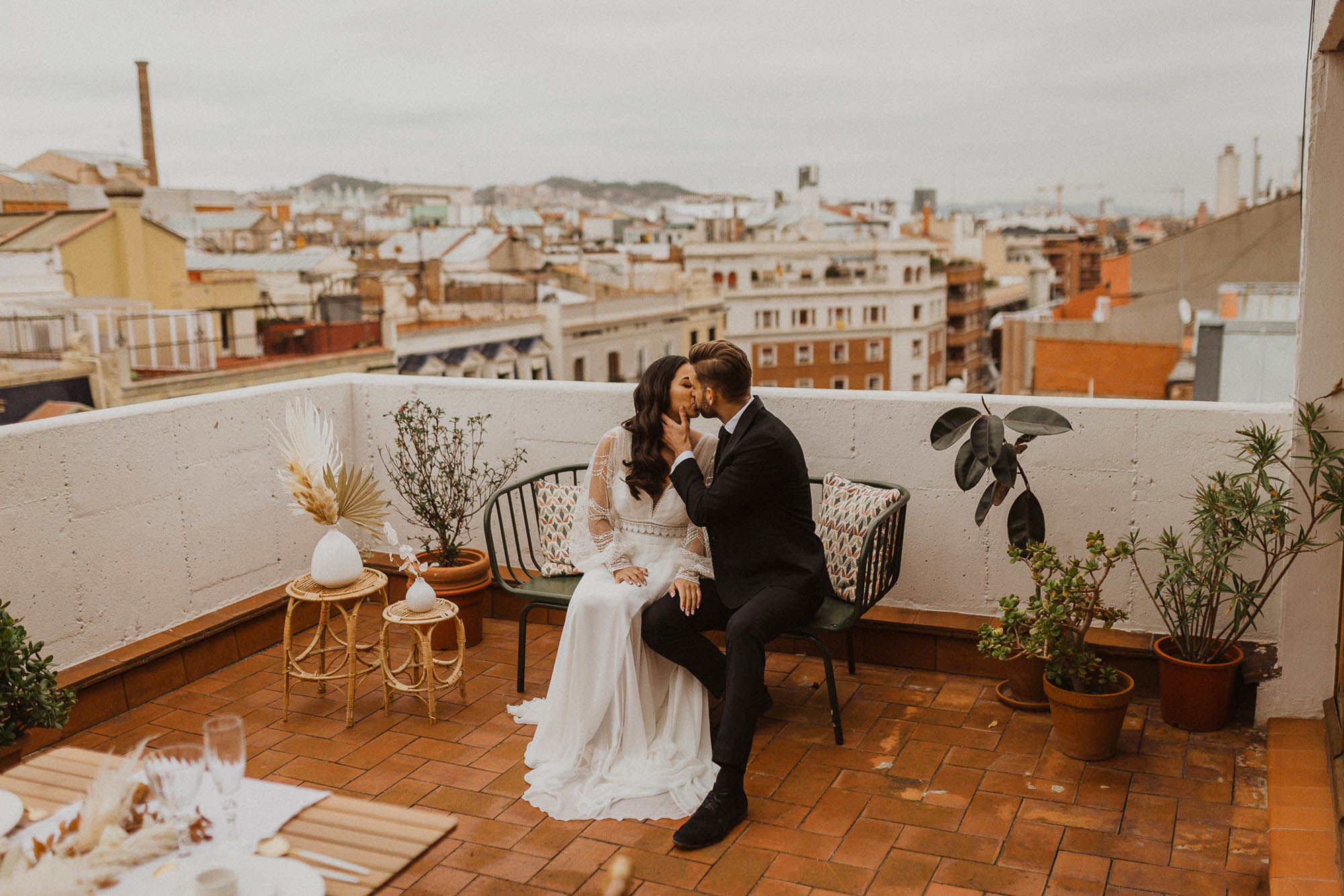 Barcelona rooftop wedding